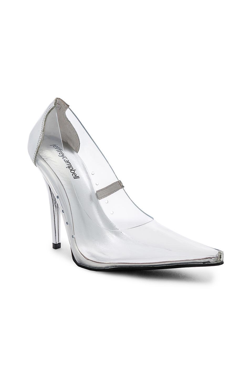 Jeffrey Campbell Leather Snow Heel In Metallic