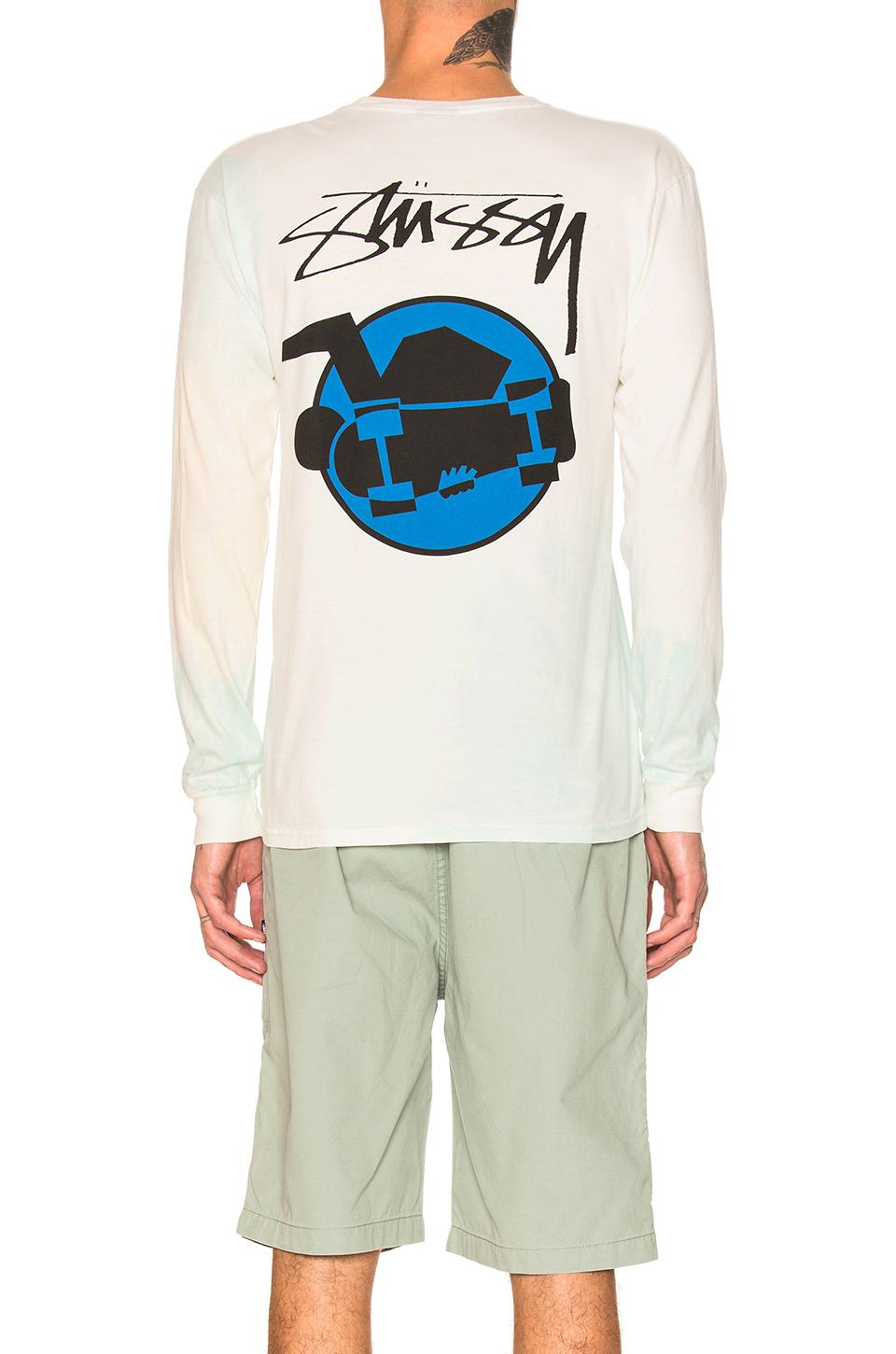 Stussy Cotton Skate Man Long Sleeve Tee in Natural for Men