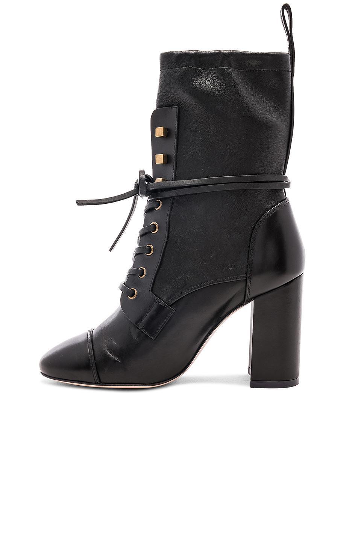 Stuart Weitzman Leather Veruka Bootie in Black