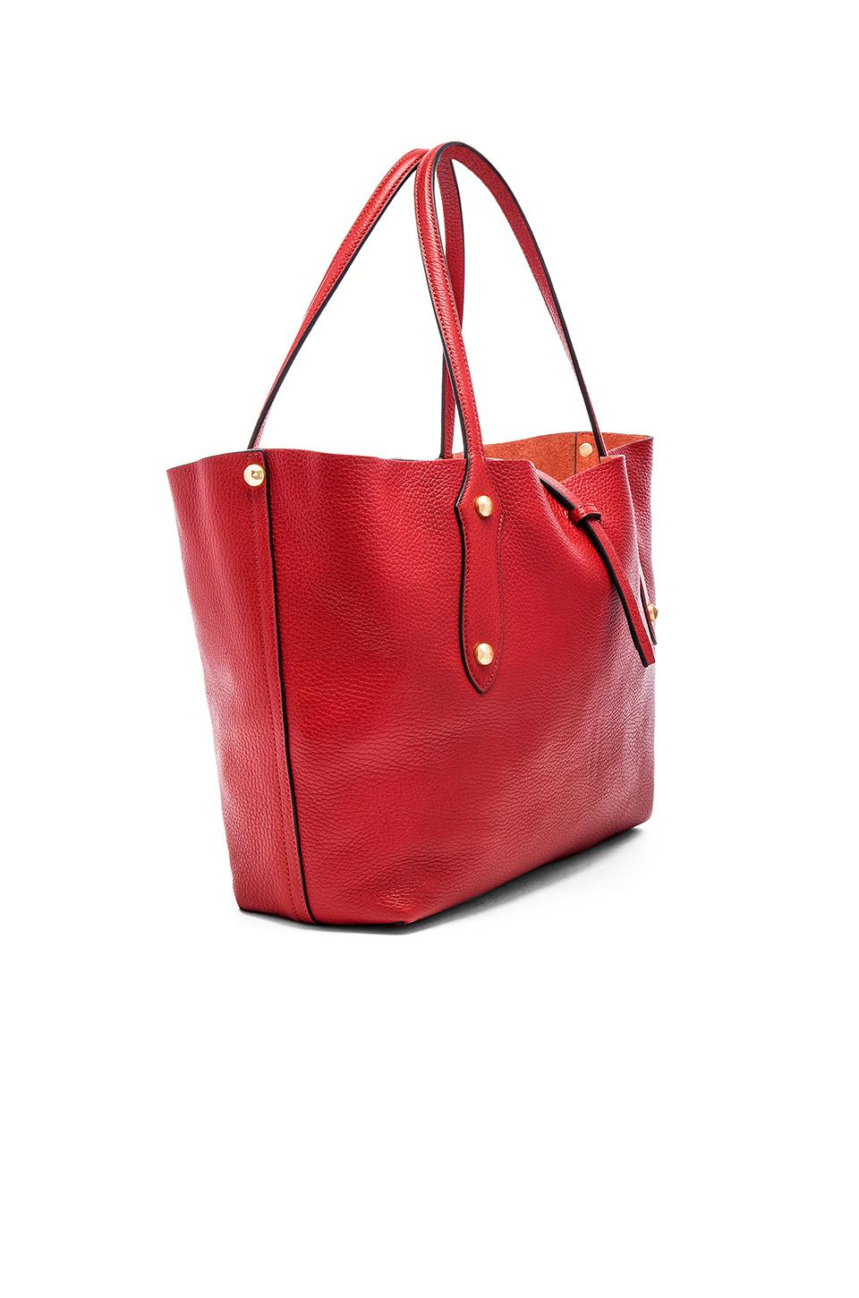 Annabel Ingall Leather Isabella Small Tote In Red.