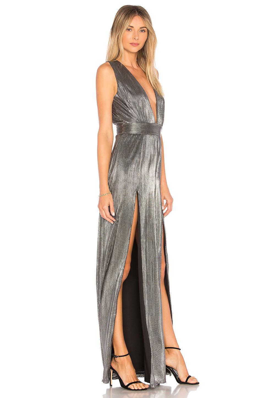 Lyst Lovers Friends Naomi Dress In Metallic Silver In Metallic
