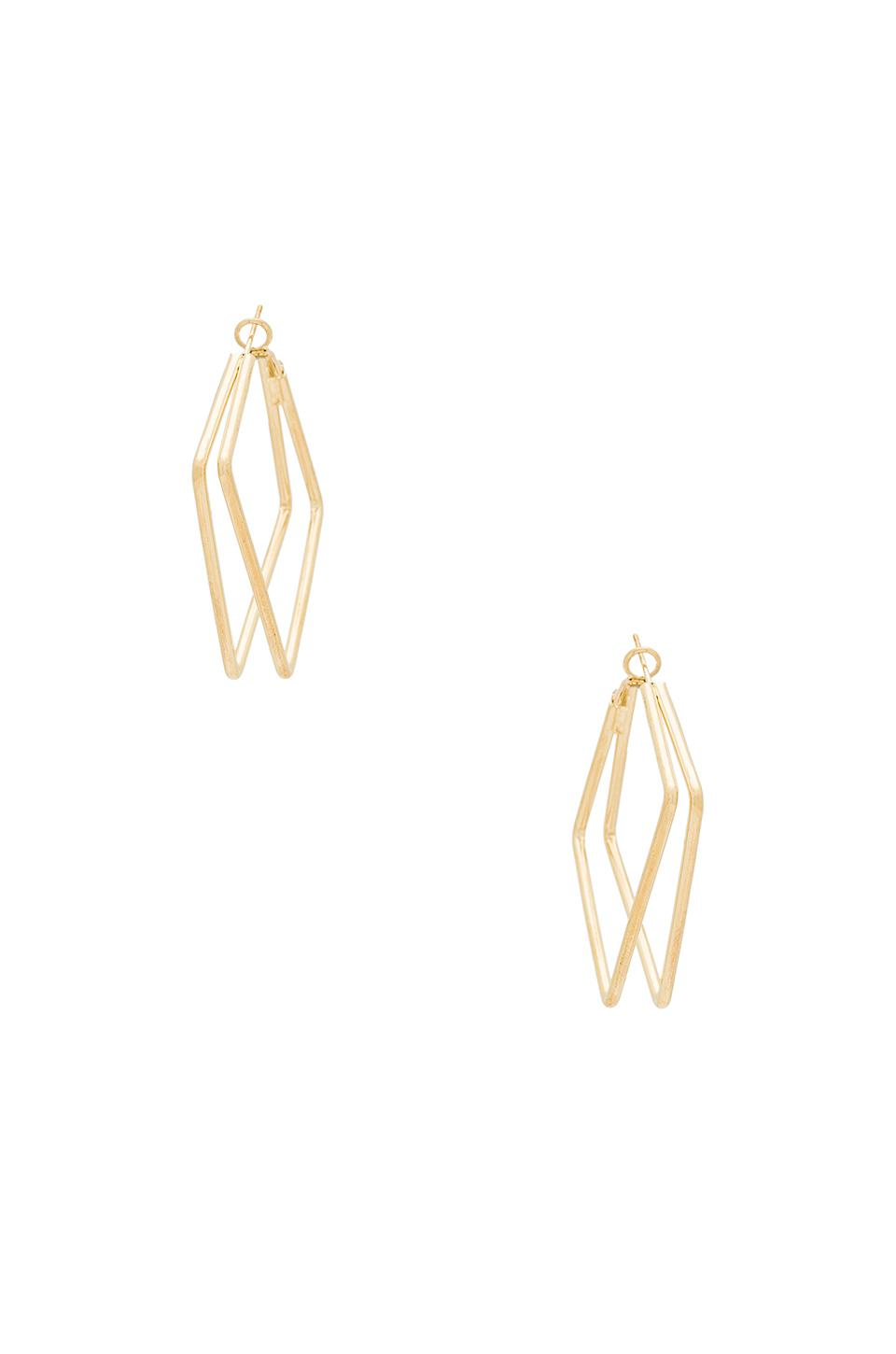 8 Other Reasons Squared Hoops In Metallic Gold.