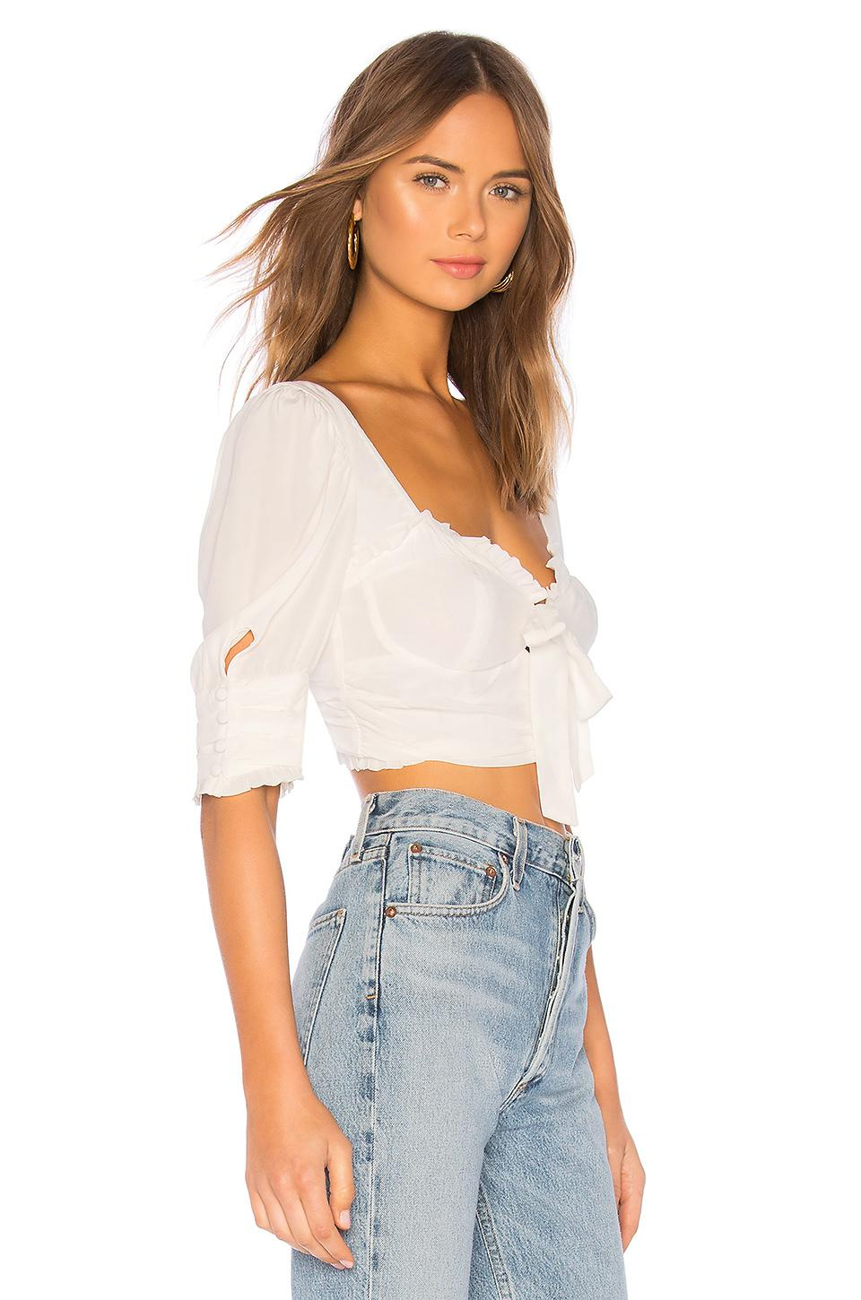 b61c20901a7f2 For Love   Lemons - Royale Crop Top In White - Lyst. View fullscreen