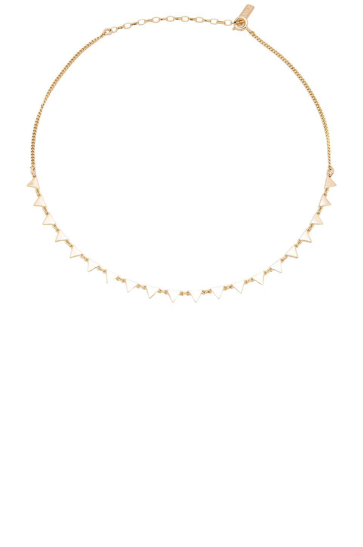 Joolz by Martha Calvo Turquoise Dangle Choker in Metallic Gold 73f9plxw