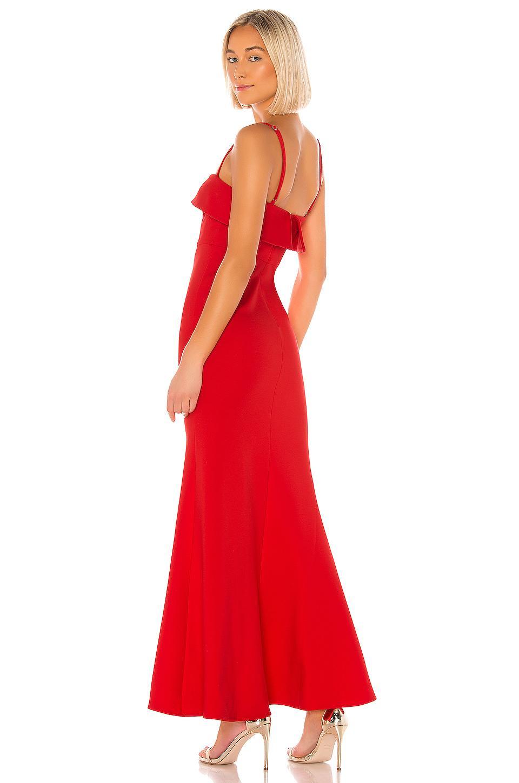 Vestido de fiesta sin tirantes uzi Nbd de Tejido sintético de color Rojo