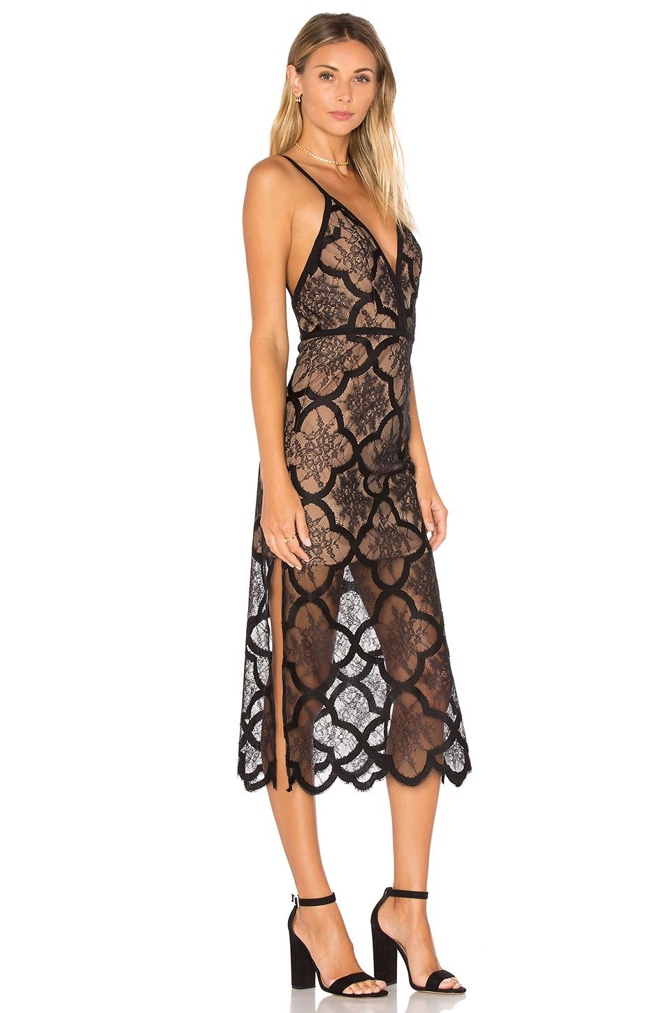 Shop for NBD x REVOLVE Saint Gown in Navy & Black Lace at