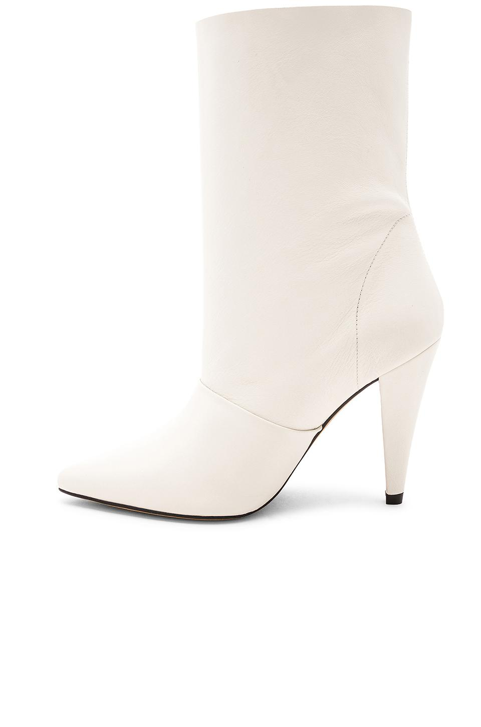 IRO Leather Avina Bootie in Ecru (White)
