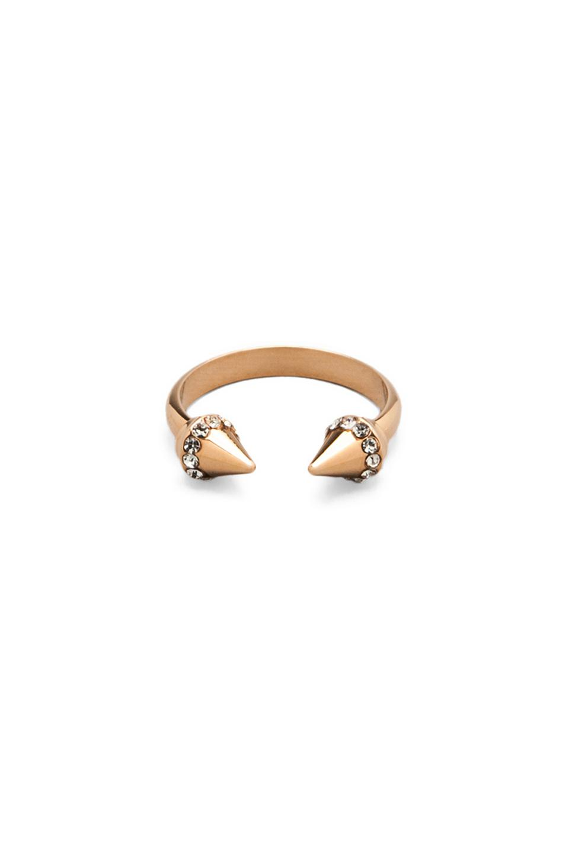 Vita Fede Ultra Mini Titan Crystal Ring in Metallic