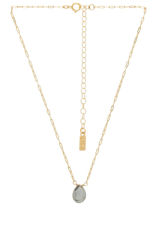 Natalie B. Jewelry Love California Necklace Set in Gold (Metallic)