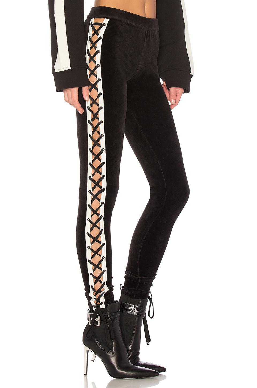 c047868ca94d2a PUMA - Black Velour Lace Up Legging - Lyst. View fullscreen