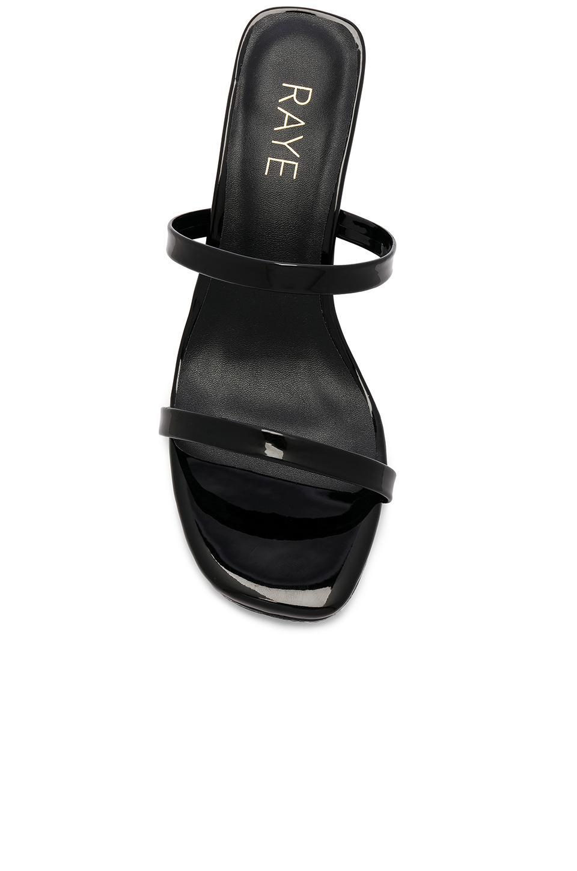 Tacón transparente cabo RAYE de Cuero de color Negro
