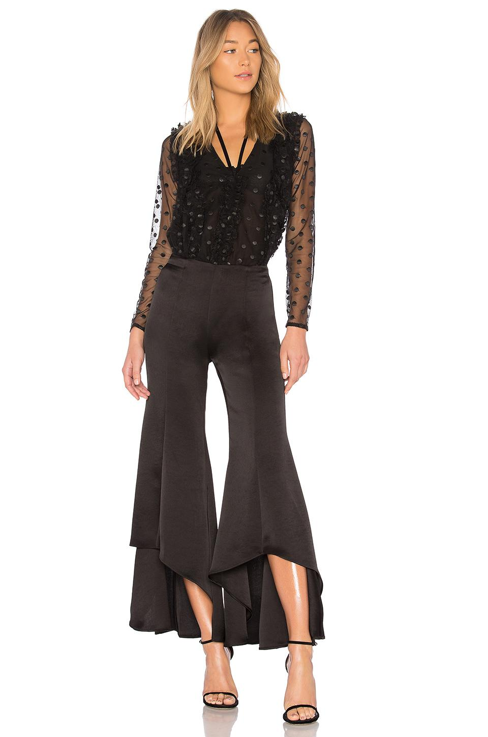 Alexis Synthetic Emer Pant in Black