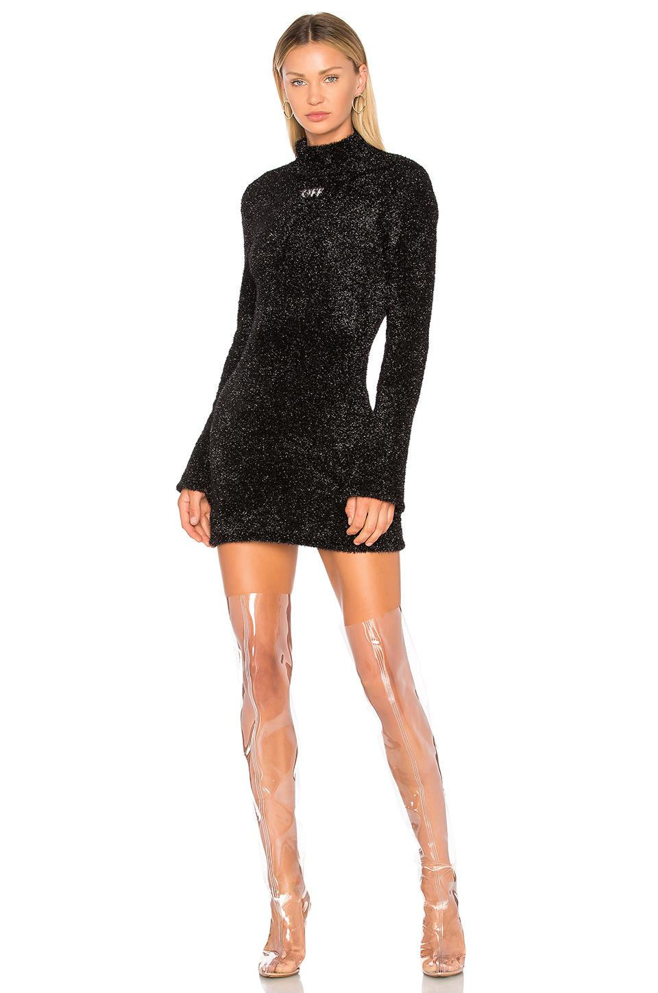 Lyst - Off-White c o Virgil Abloh Sexy Knit Dress in Black 7e50351b8
