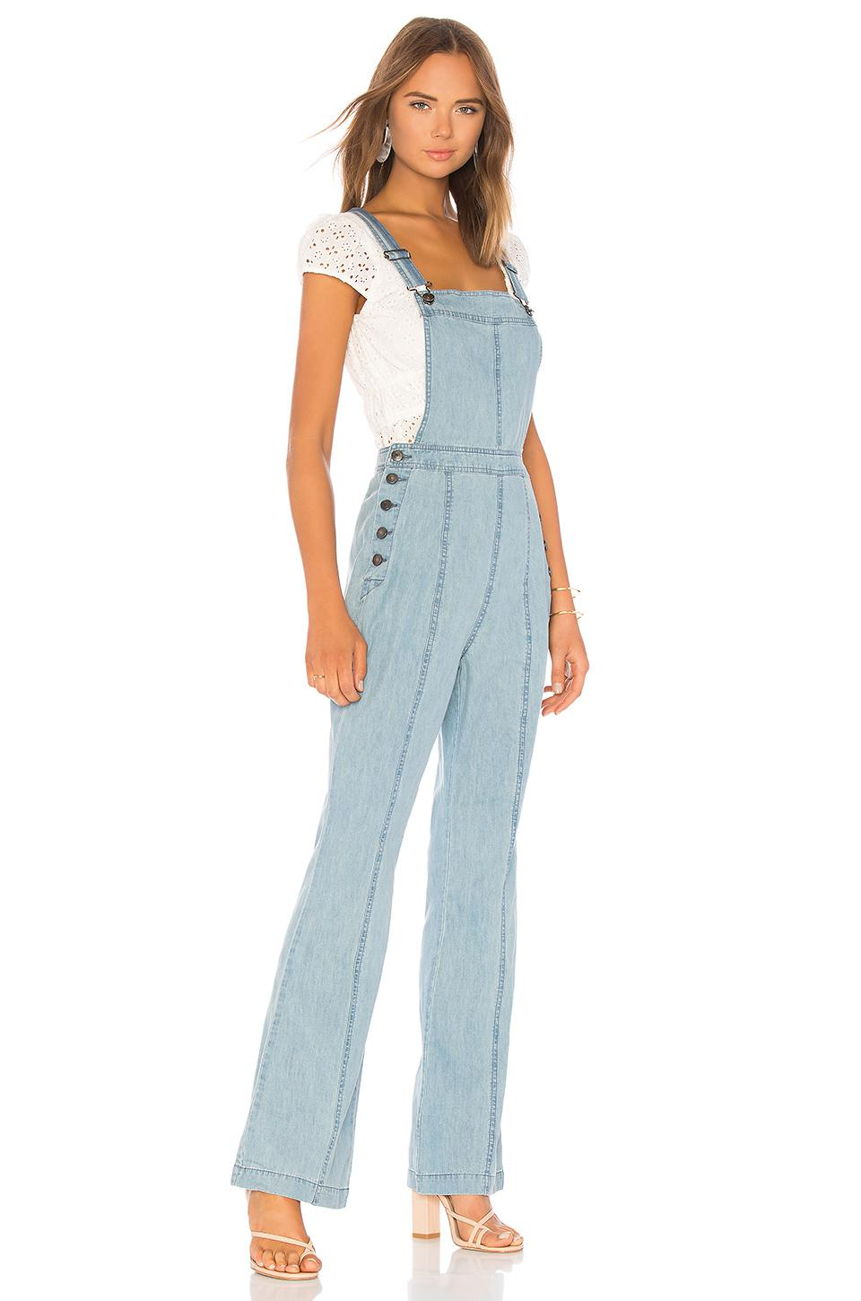 b6fd2d762337 Lyst - Cupcakes And Cashmere Meliani Light Wasted Denim Overall in ...