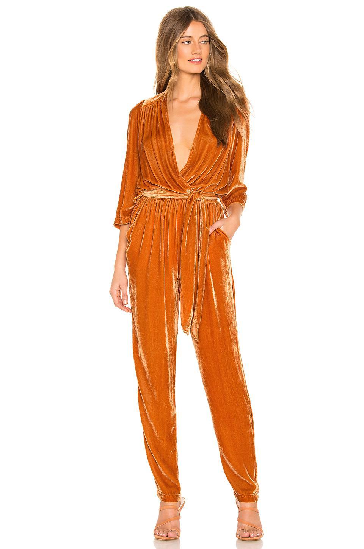 Young Fabulous Broke Bellows Jumpsuit In Orange Lyst