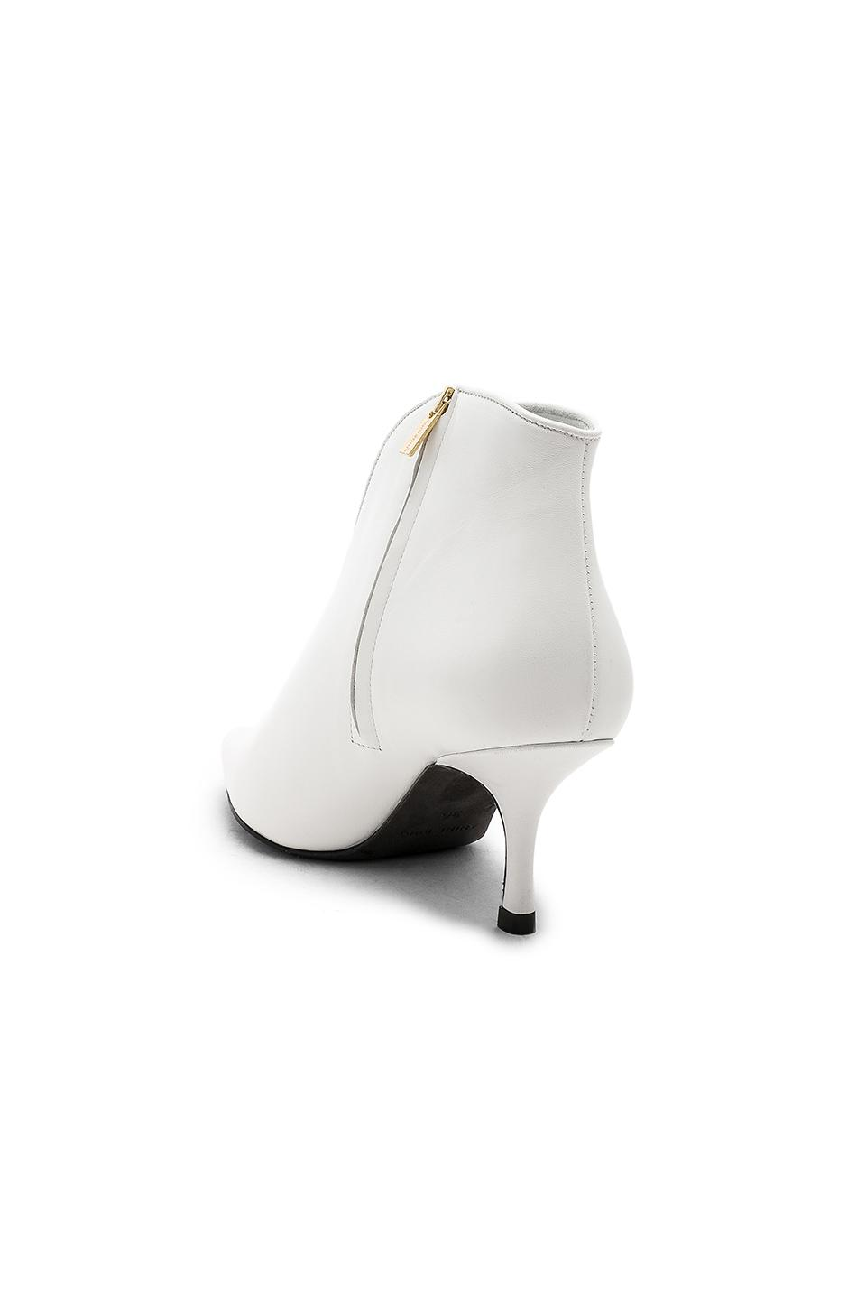 Anine Bing Leather Ankle Boots in White
