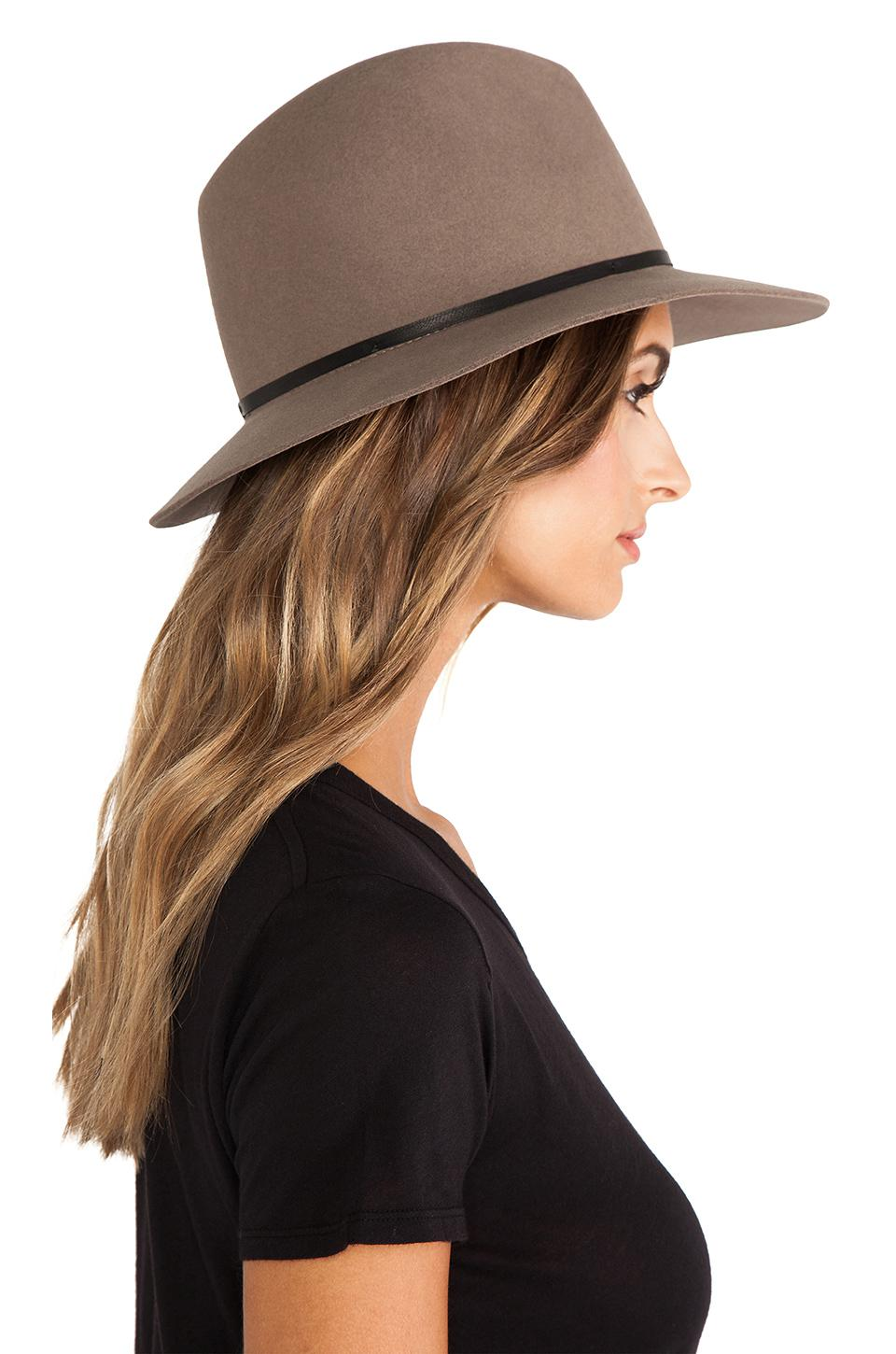 d2f4b202ea3 Lyst - Janessa Leone Lola Hat in Natural