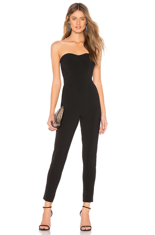 0cd700e1d47 Lyst - LPA Sweetheart Neckline Jumpsuit in Black