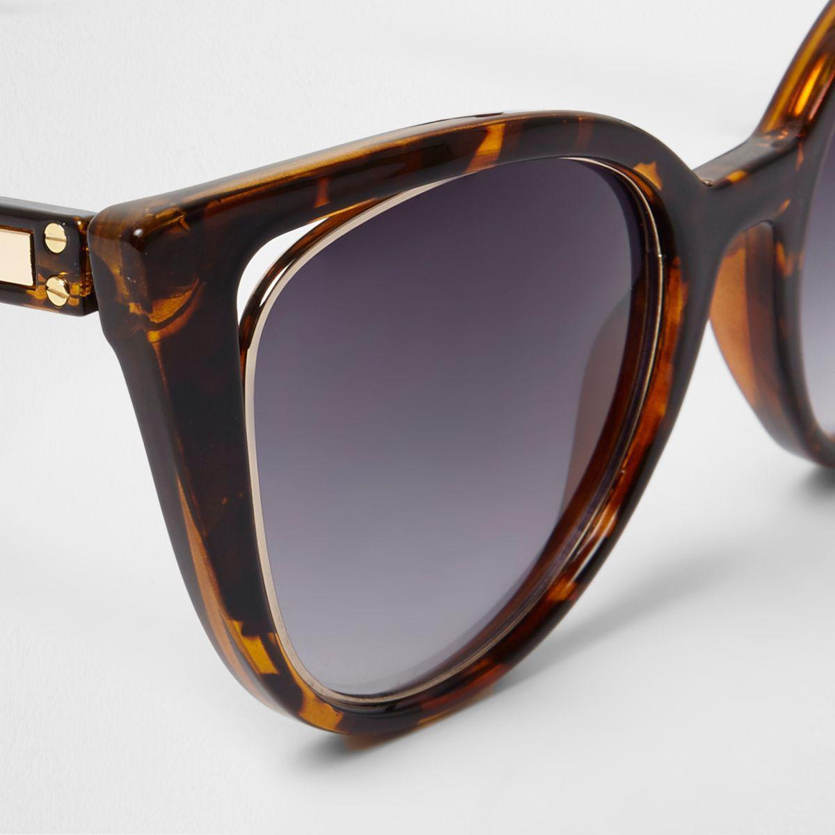 River Island Brown Tortoiseshell Cat Eye Sunglasses Brown Tortoiseshell Cat Eye Sunglasses
