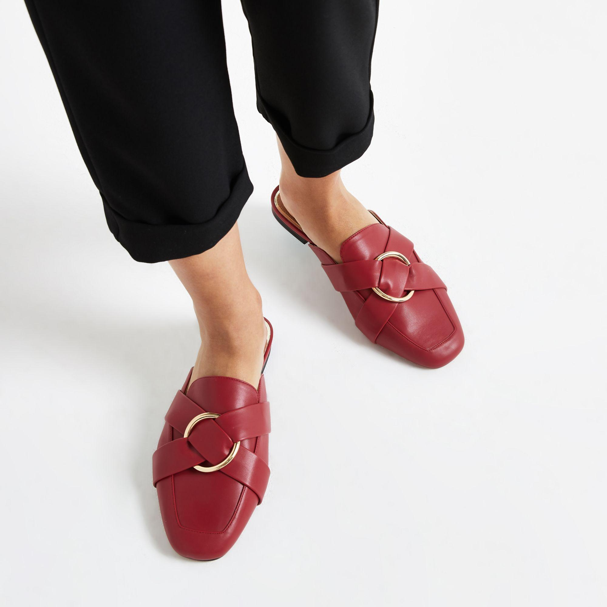 ad452d6a7f0 River Island - Red Ring Wide Fit Backless Loafer - Lyst. View fullscreen