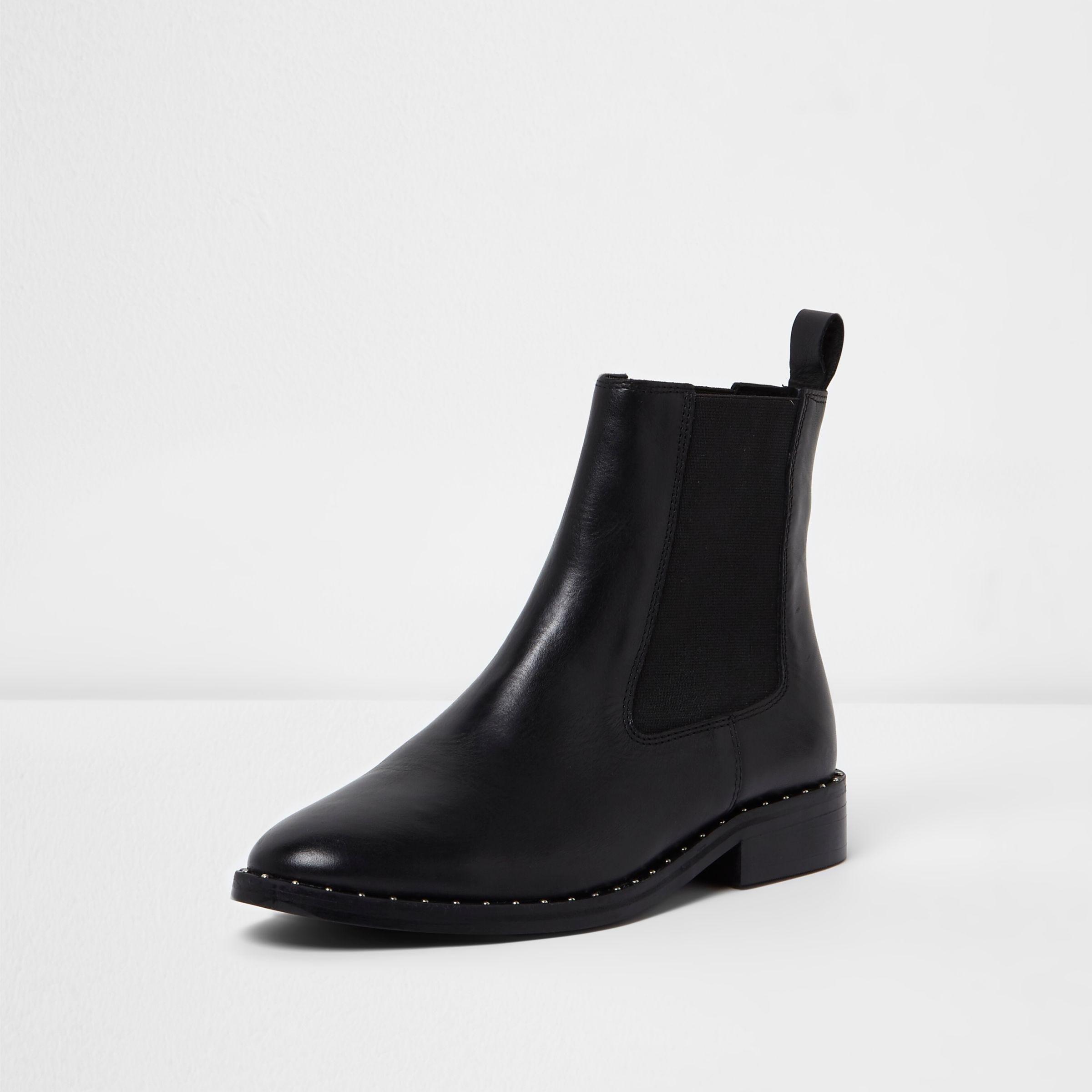 river island black chelsea boots
