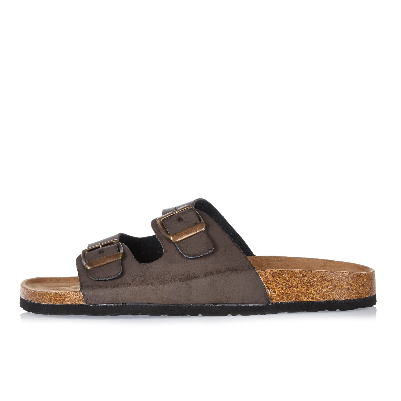 River Island Khaki Cut Out Sandals