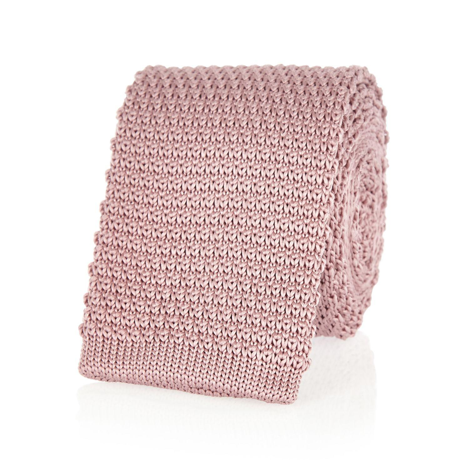 River Island Pink Knitted Tie