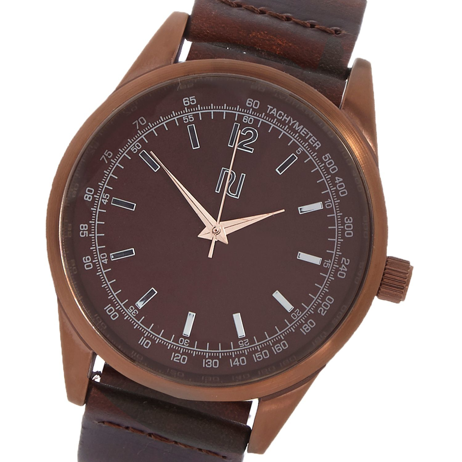 river island brown leather in brown for lyst