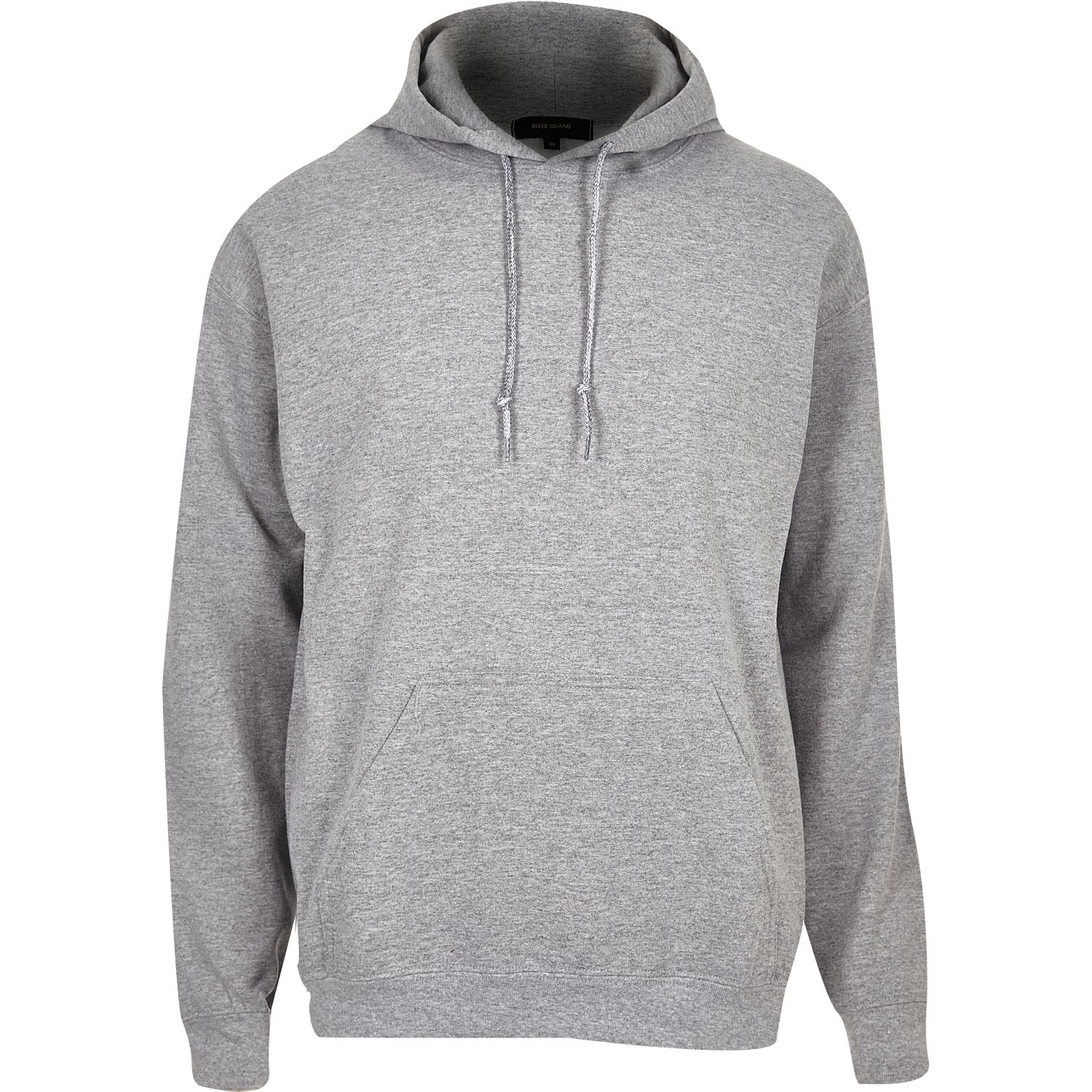 Lyst River Island Grey Cotton Hoodie In Gray For Men