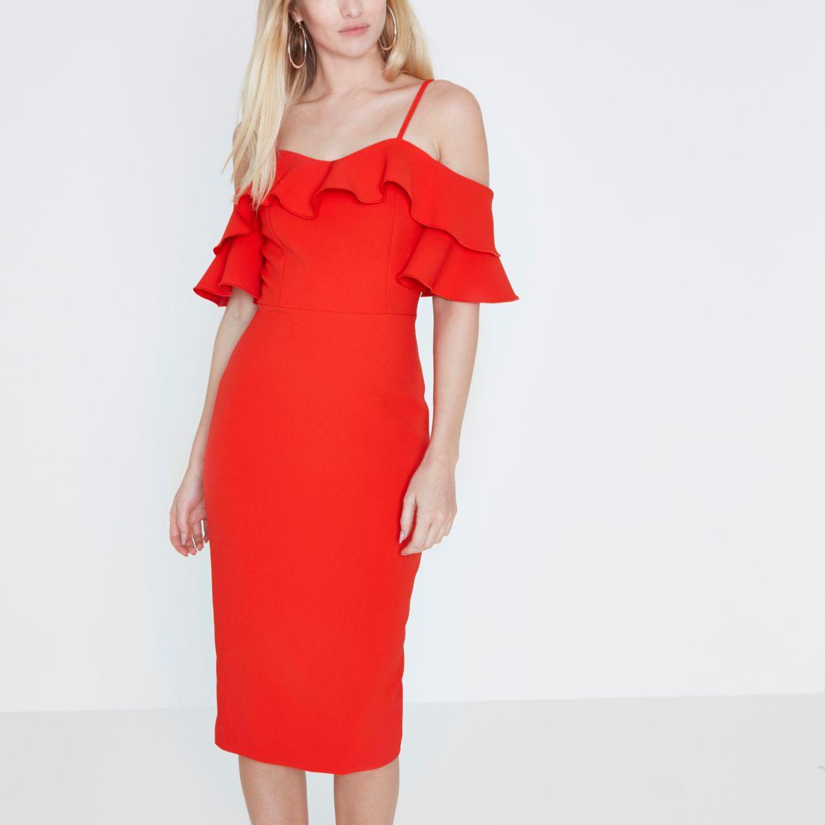 River Island Red Jumper Dress