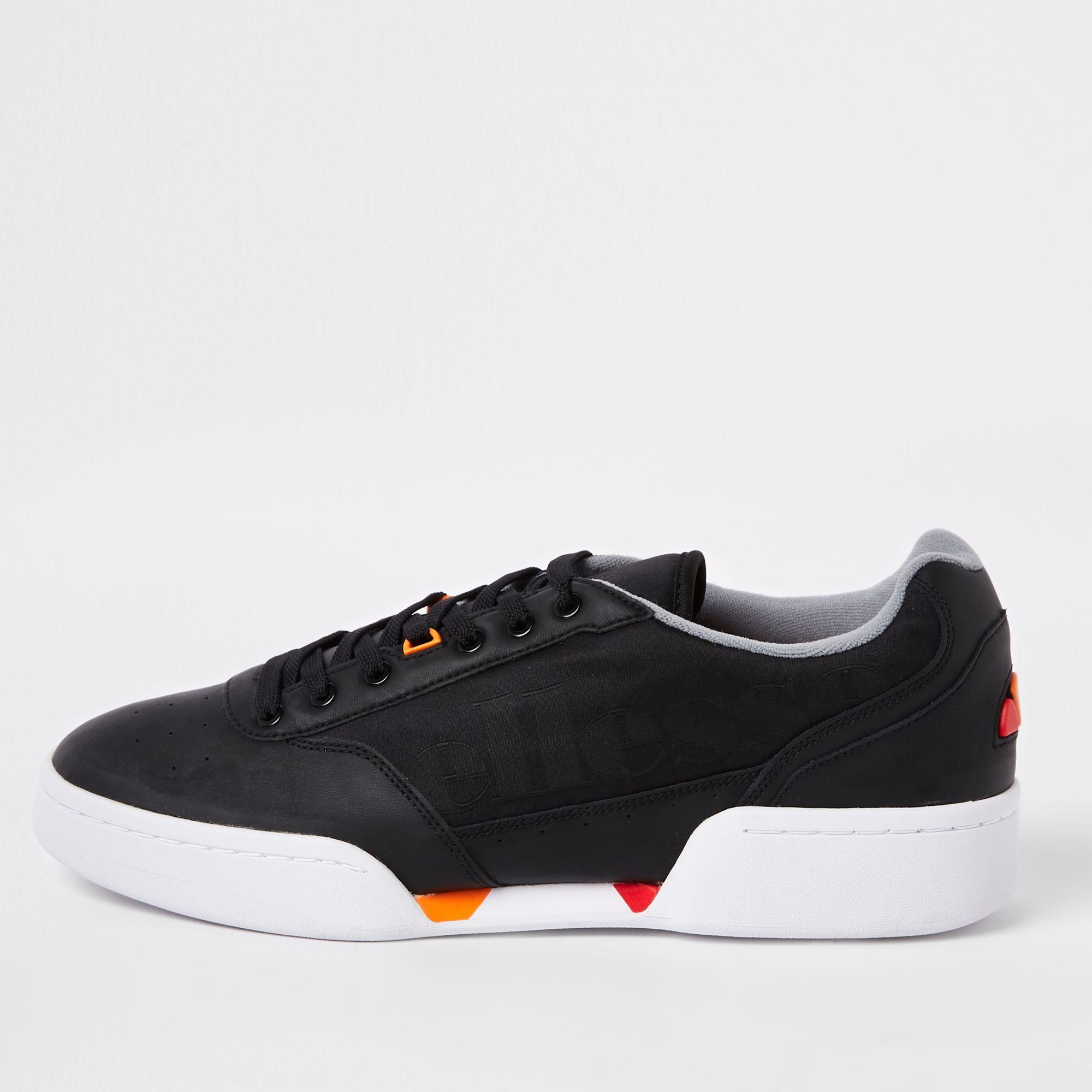 2f7ca443f2 River Island Ellesse Grey Piacentino Leather Trainers in Gray for ...