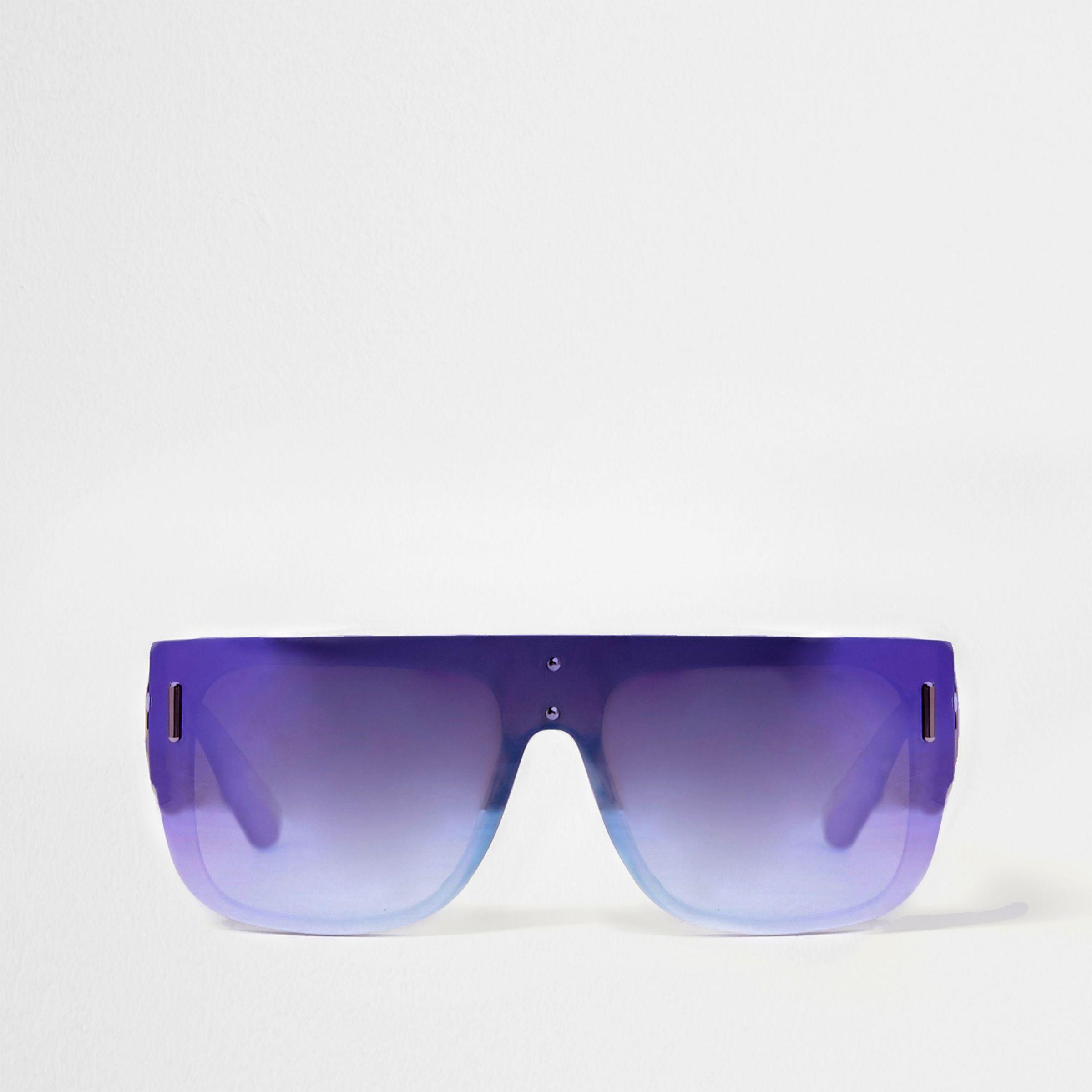 River Island Womens mirrored lens flat top sunglasses Sale Pay With Paypal VdW9FW4d72