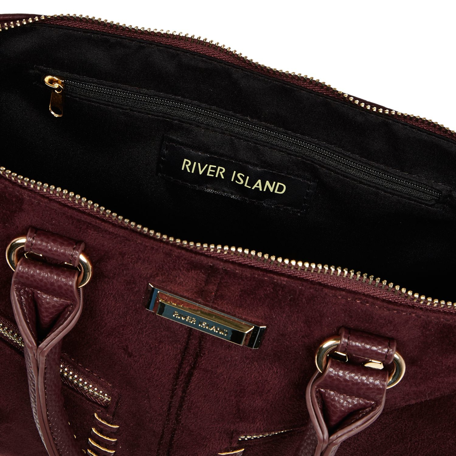 River Island Dark Red Mini Tote Bag in Purple