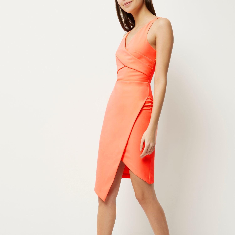 River Island Asymmetric Wrap Dress