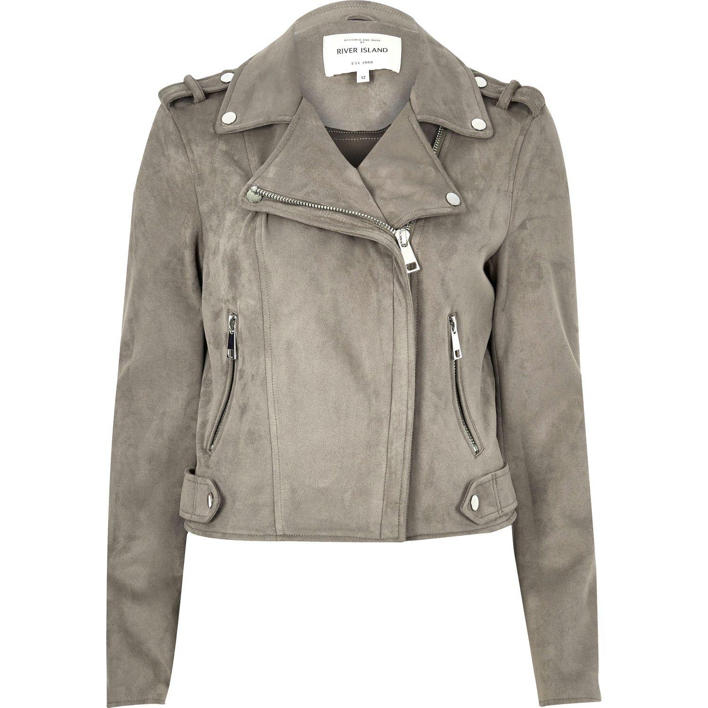 River Island Suedette Biker Jacket