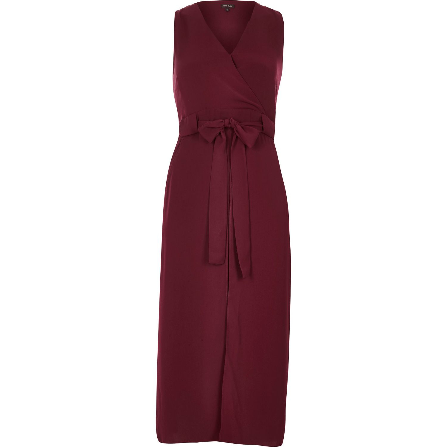 a6f96c17 River Island Dark Red Double Layer Dress in Purple - Lyst