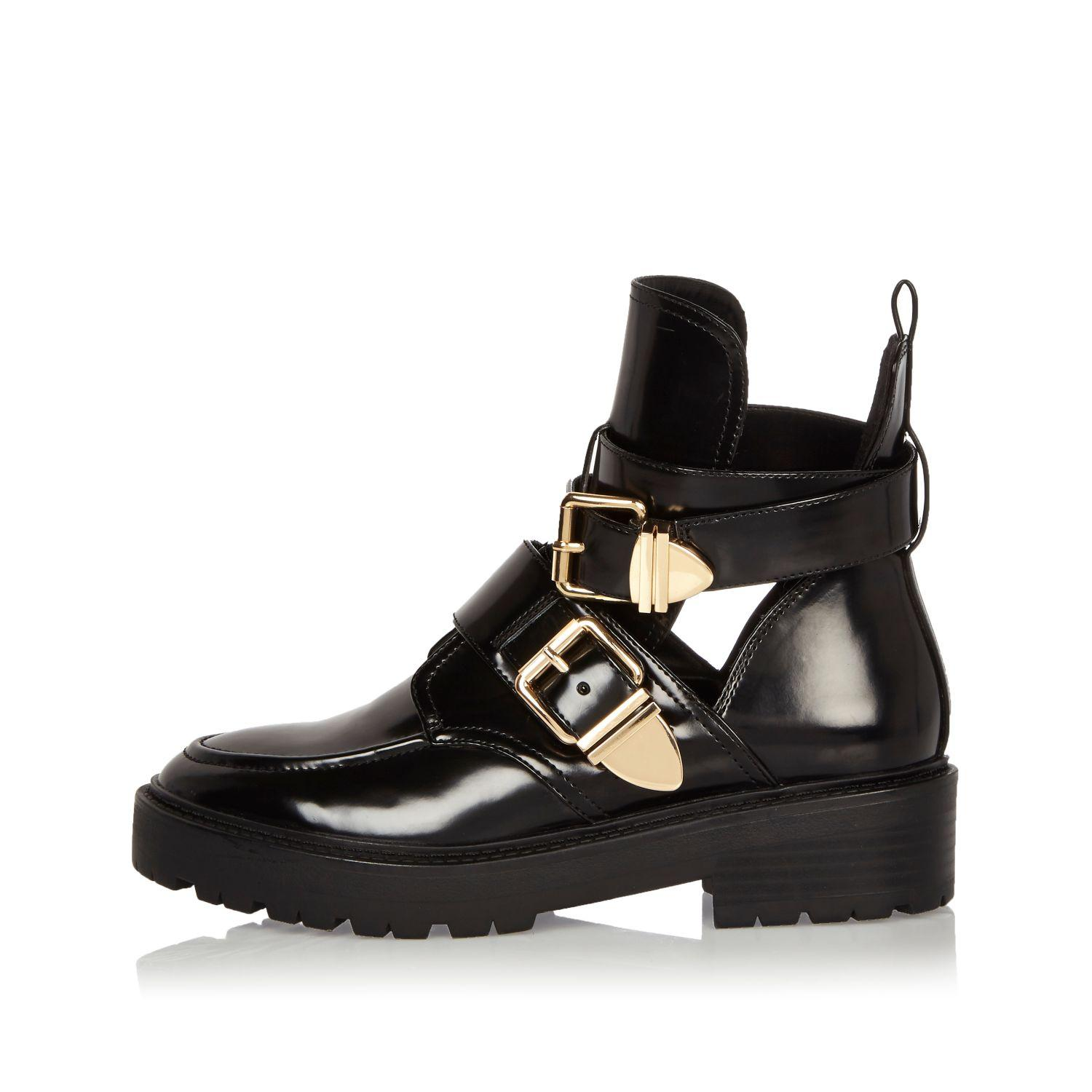 patent boots river island closeout