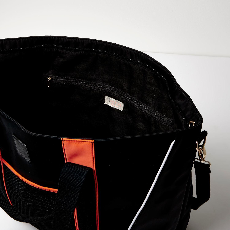 River Island Neoprene Ri Active Black Neon Trim Gym Tote Bag