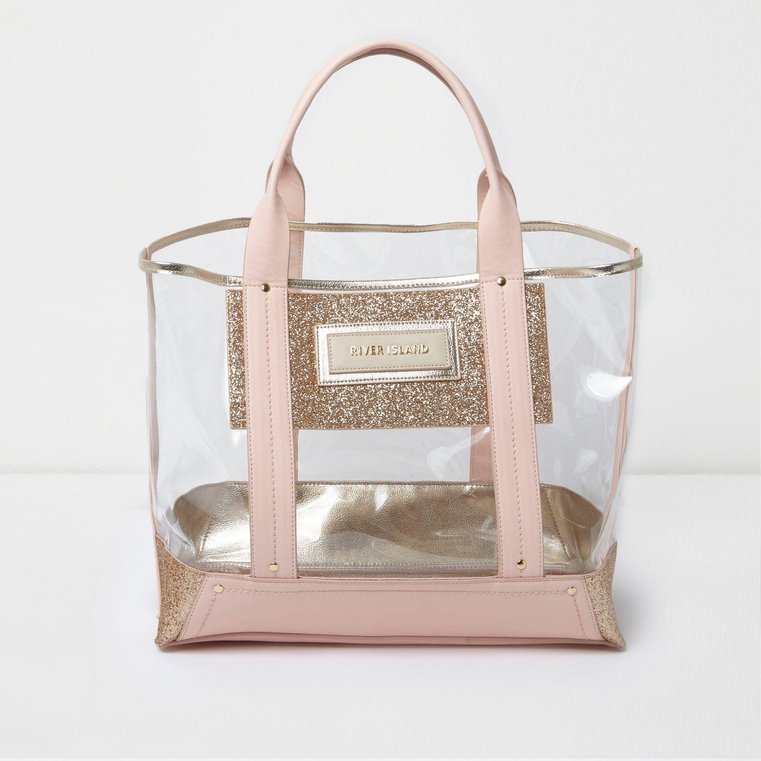 River Island Tote Bag Pink