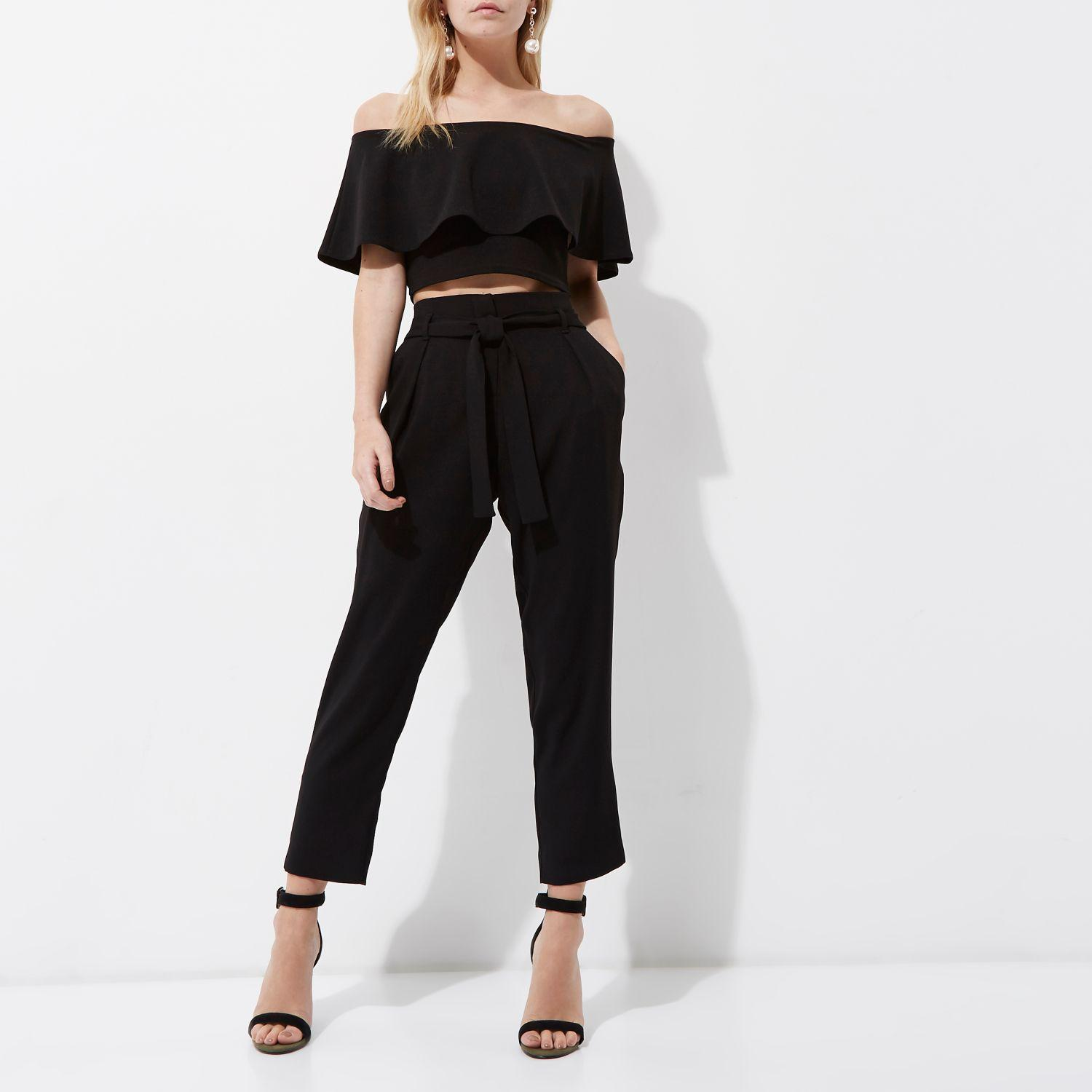 Gingham Trousers River Island