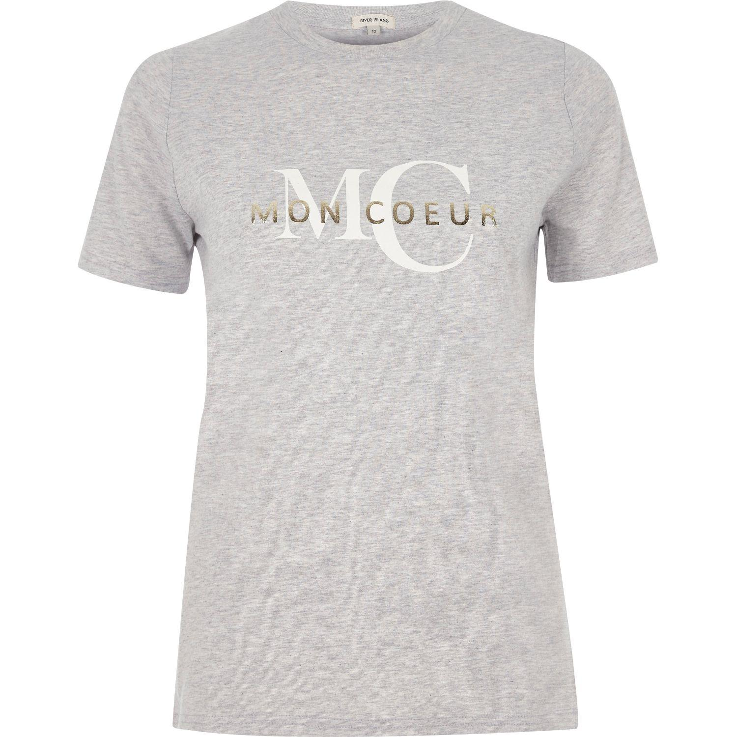Womens White Mon Coeur fitted T-shirt River Island For Sale Online Reliable For Sale Cheap 2018 Unisex Clearance Fast Delivery Limited Edition qXdvFo