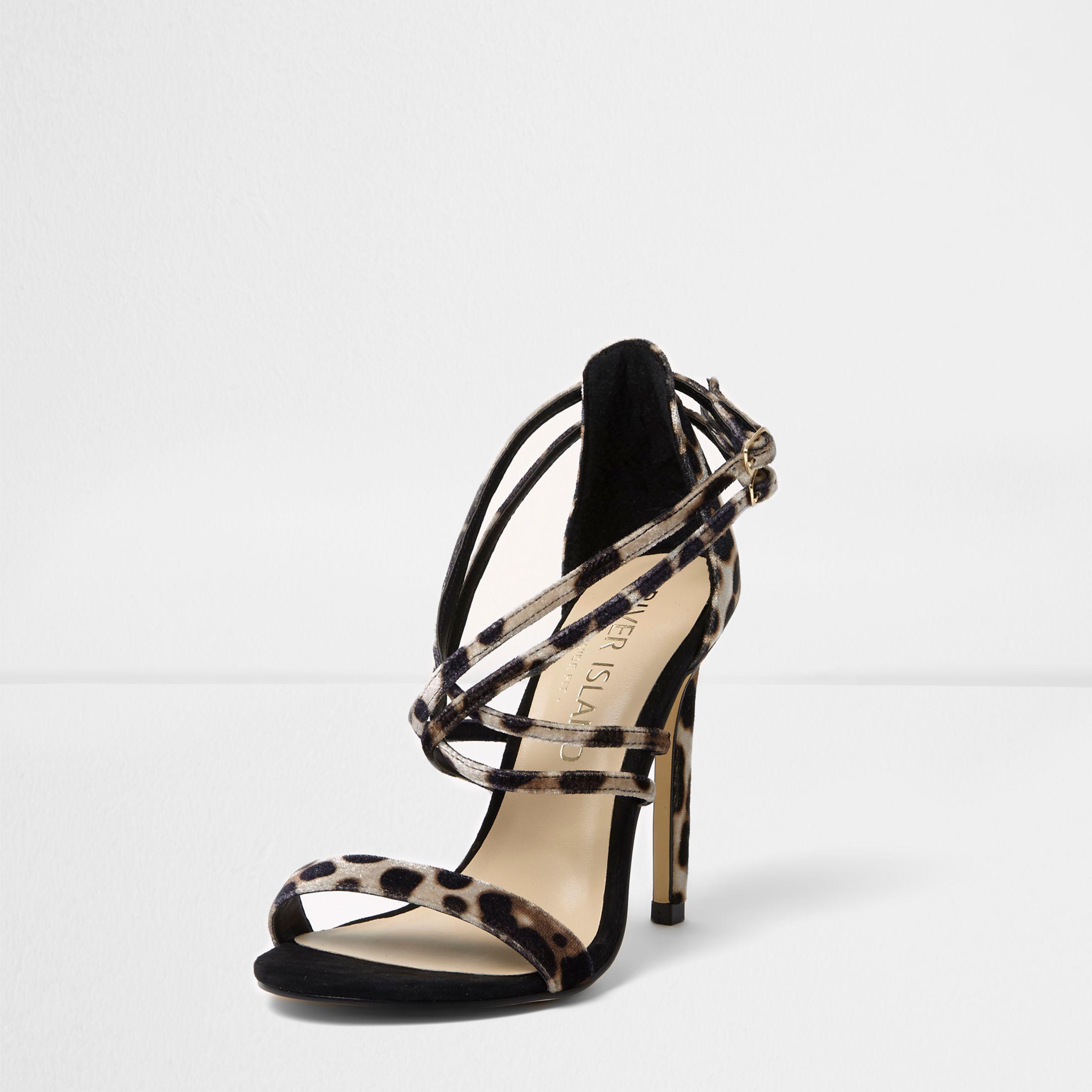 river island leopard print sandals