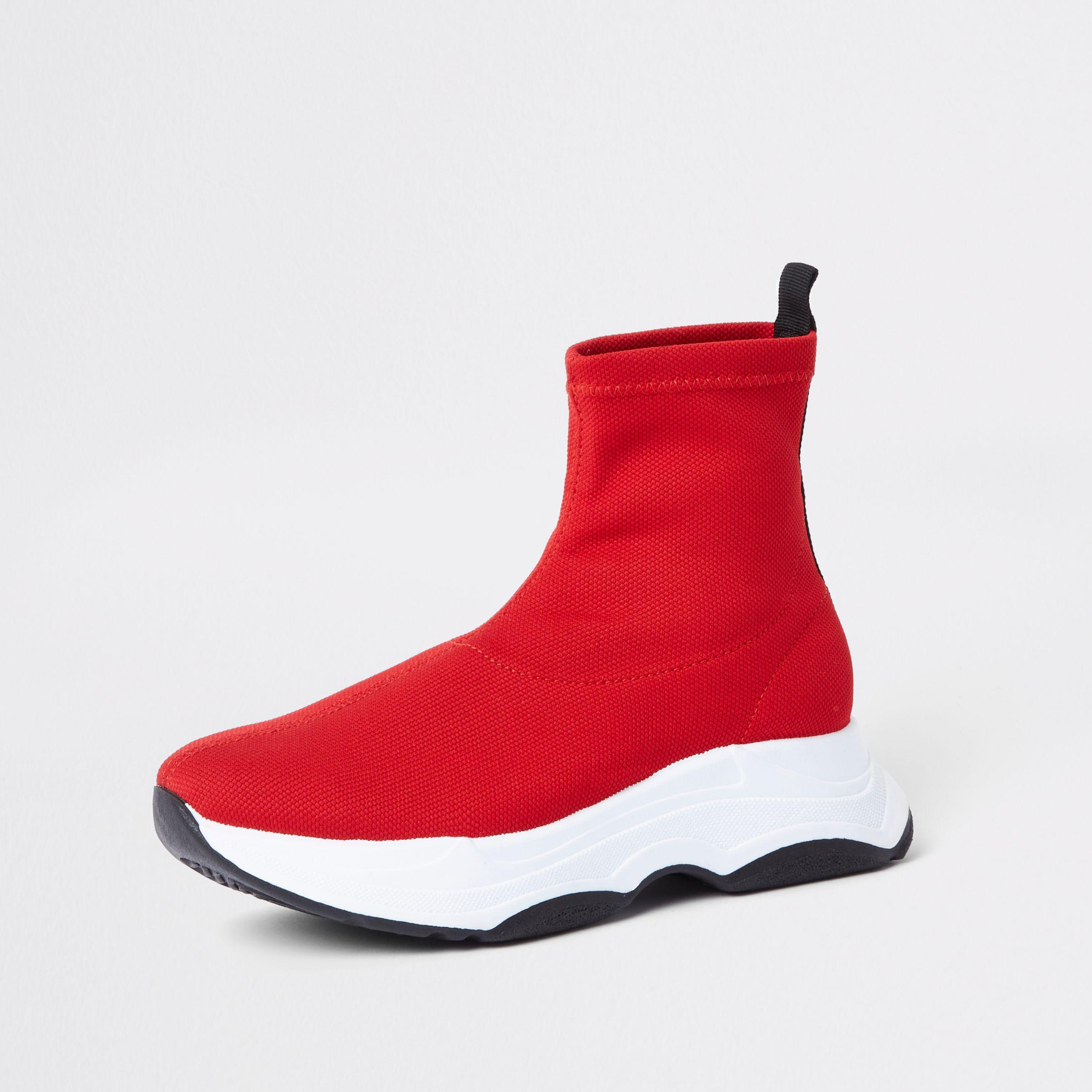 River Island Red Knitted Sock Runner