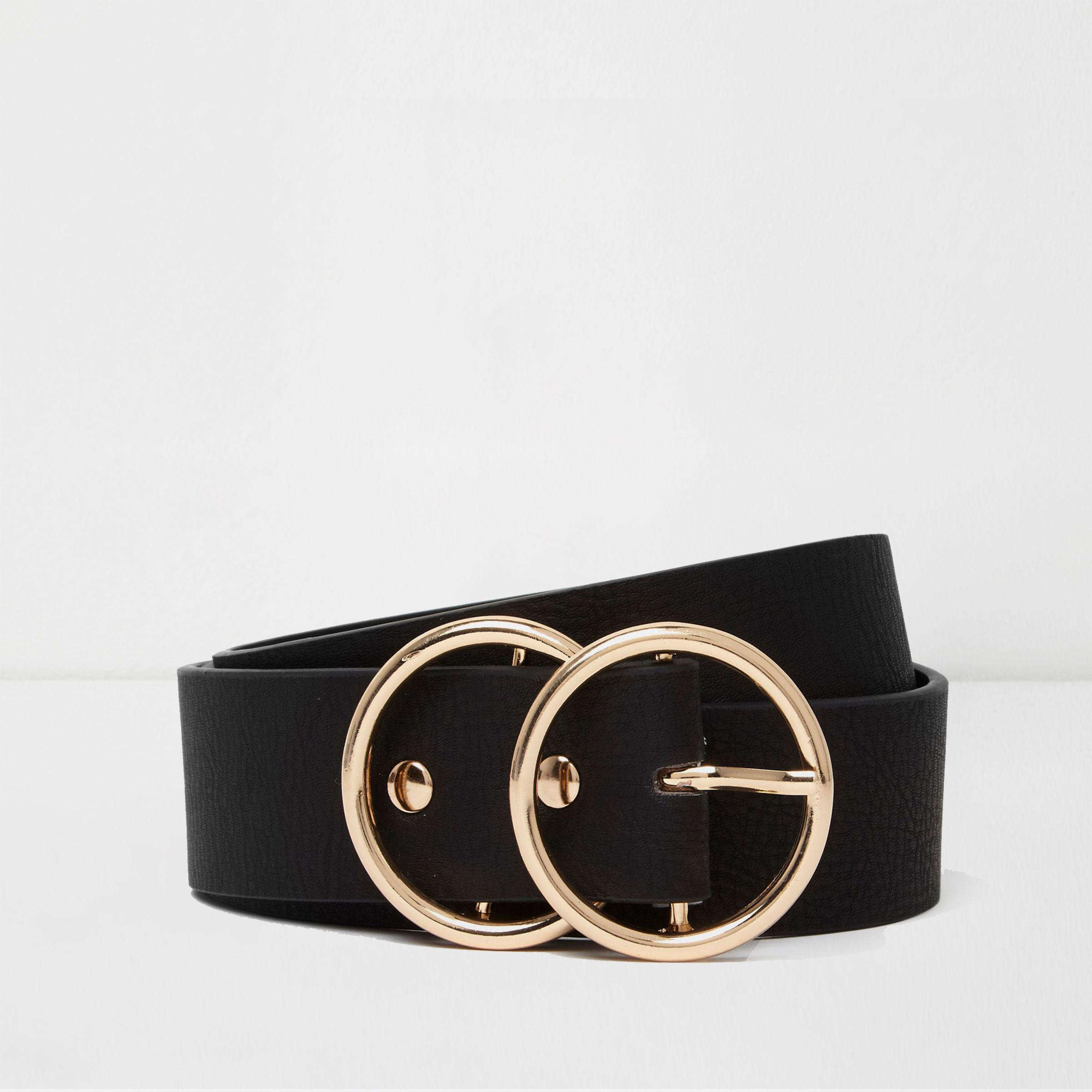 Image result for black double hoop belt