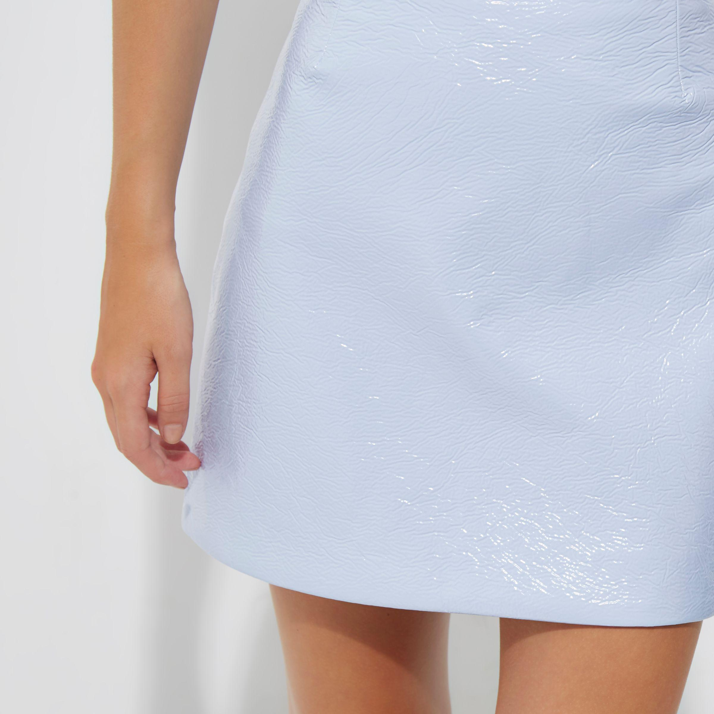8d96572b99 River Island Petite Light Blue Vinyl Mini Skirt in Blue - Lyst