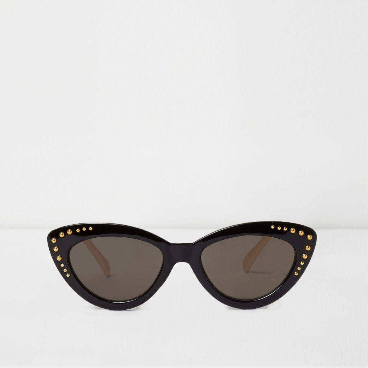 a1f7502414f PRADA Studded Ornate Cat Eye Sunglasses SPR 31Q Black 172166. Lyst - River  Island Black Studded Cat Eye Sunglasses Black Studded Cat Eye Sunglasses in  Black