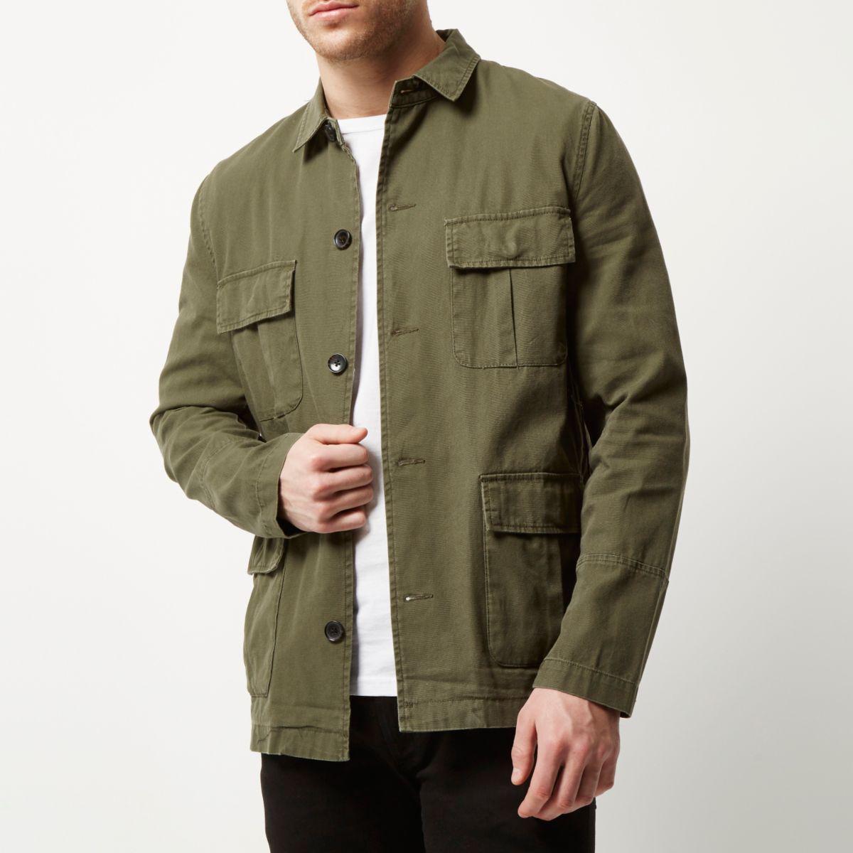 River Island Green Denim Jacket