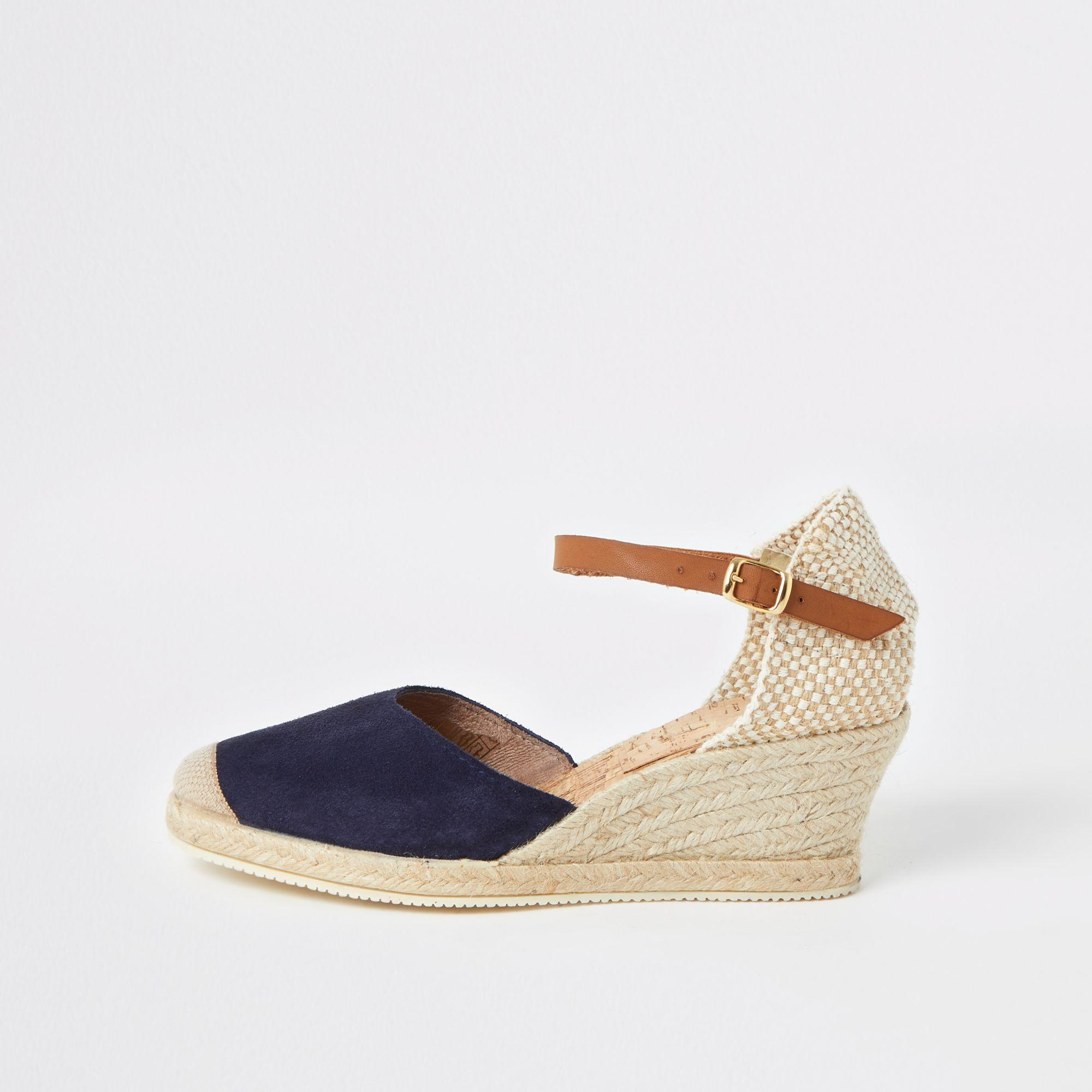 f6db1241b7 River Island Ravel Espadrille Wedge Sandals in Blue - Lyst