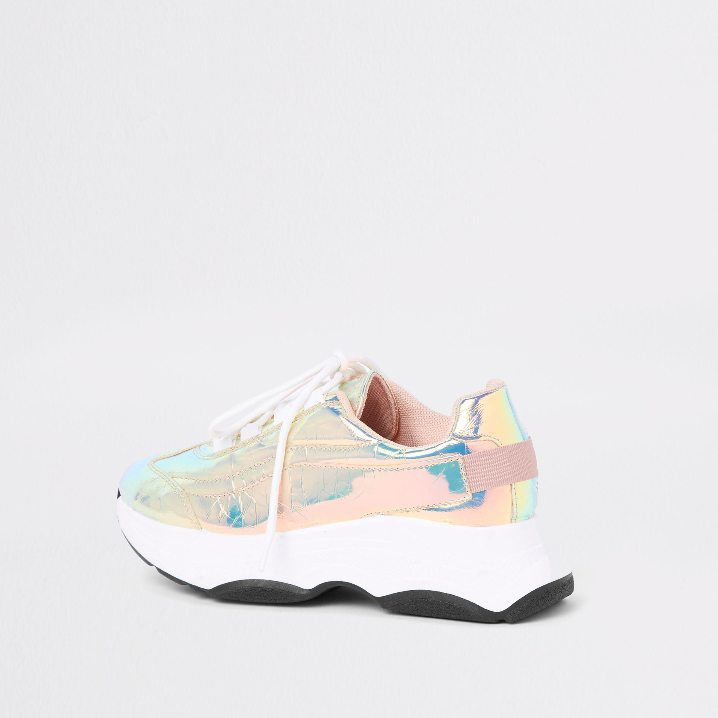 River Island Iridescent Chunky Lace-up