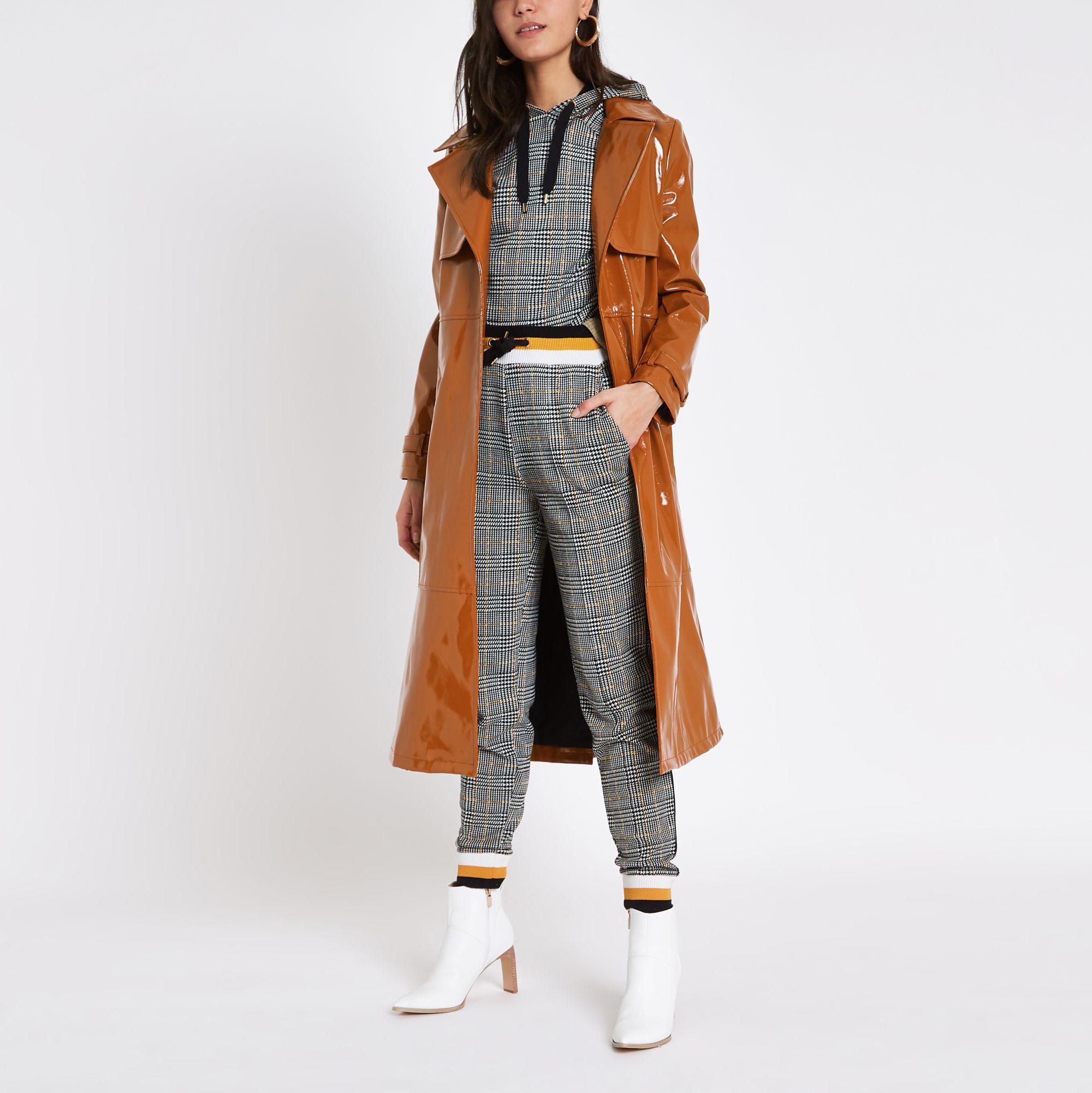 buy wholesale sales to buy Vinyl Tie Waist Trench Coat